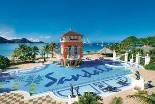 Sandals Grande St.Lucian Beach Resort 5*, Pigeon Point (Saint Lucia Island) ,Svätá Lucia